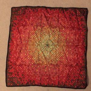 Talbots multicolored Silk scarf in EUC